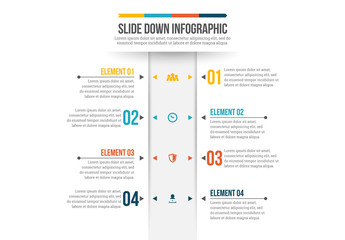 Vertical Menu Bar Infographic
