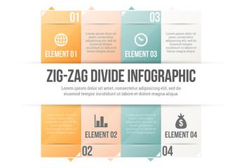 Pastel Gradient Tile Infographic