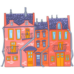 Cartoon illustration House