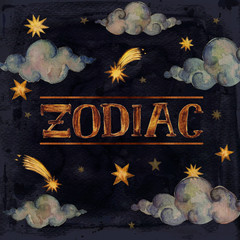 -Zodiac- writing on a night sky background.