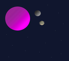 An alien planet in the space