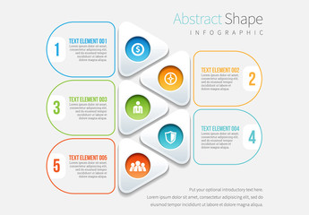 Stacked Flat Shape Element Infographic
