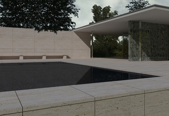German Pavilion, Barcelona, Mies Van der Rohe