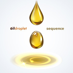 Oil droplet vector sequence