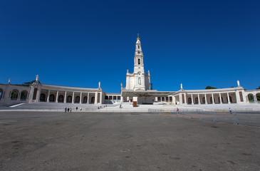 FATIMA, PORTUGAL June 18 , 2016: The Sanctuary of Fatima, which is also referred to as the Basilica of Lady Fatima, Portugal