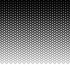Parallel wavy-zigzag horizontal lines - Horizontally repeatable