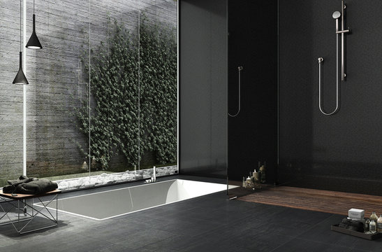 Minimal bathroom design