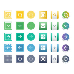 Web buttons vector icons.