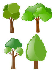 Different shapes of trees