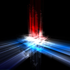 Abstract futuristic background with translucent rectangles