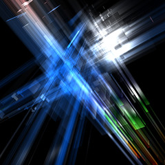 Abstract technological expansion luminous background