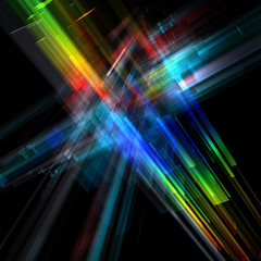 Abstract urban luminous background