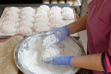 confectionery factory. production of confectionery. pastries, marshmallows, sweets