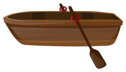 Rowboat with two oars