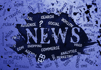News, Typography, Search