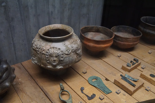 Pottery and metal artifacts