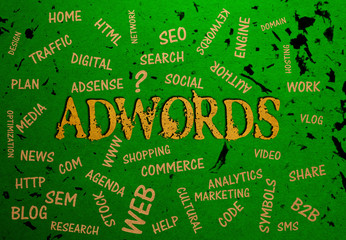 Adwords, Typography, Search