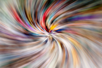 multicolored abstract lines speed radial circle blur background