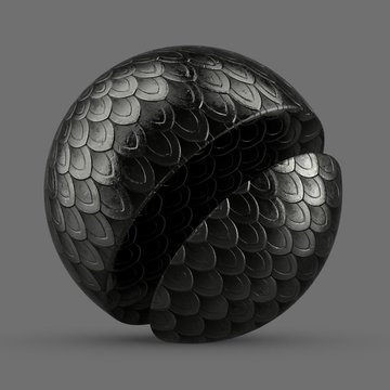 Black dragon scale armor