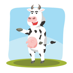 cow character vector illustration design