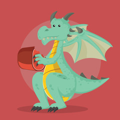 dragon vector illustration design
