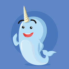 narwhal vector illustration design