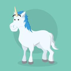 unicorn illustration vector illustration design