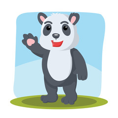 panda character vector illustration design