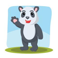 panda character vector illustration design