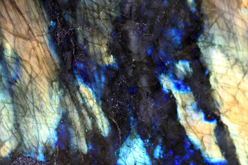 Photo sur Aluminium Les Textures Polished Labradorite stone