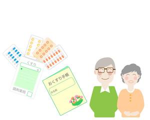 おくすり手帳、手帳、薬、くすり、クスリ、老人、夫婦、患者、安心、