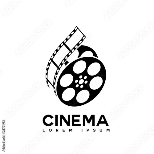 film strip cinema abstract logo design template stock image and rh fotolia com Film Strip Photoshop Colorful Film Strip