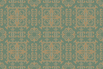 Background pattern. Vintage style texture: Victorian, Baroque, Gothic. Modern wallpaper for your design. Vector illustration art