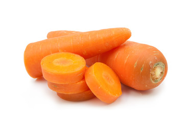 carrot slice isolated
