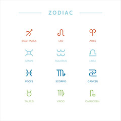 Zodiac symbols.