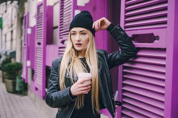 beautiful fashion girls outdoor