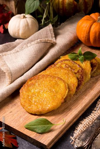 """Potato pancakes with pumpkin puree"" 스톡 사진, 로열티프리 이미지 ..."