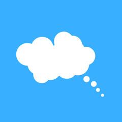 Cloud speech bubble