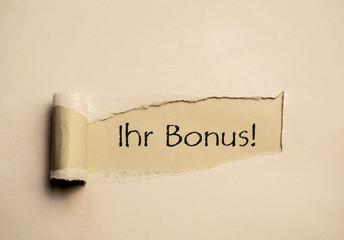 Ihr Bonus!
