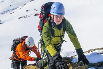 Klettern im winterlichen Hochgebirge