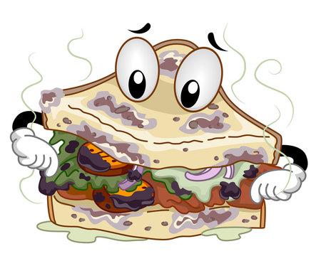 Mascot Spoiled Sandwich
