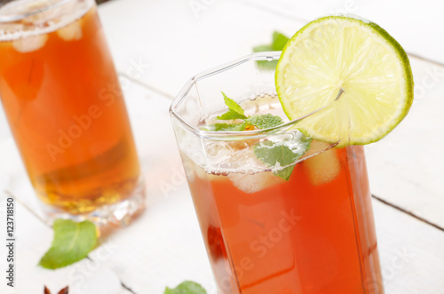 "Lime and mint Fruit beer with ice"" Stock photo and royalty-free ..."
