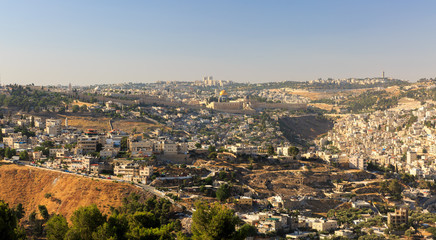 The Temple Mount in Jerusalem, view from afar