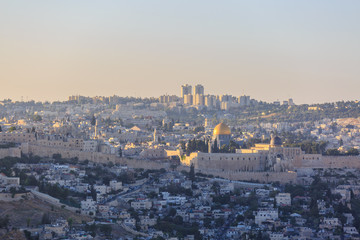 The top of Temple mount in Jerusalem