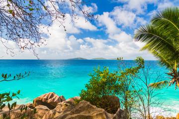 Lagoon Seascape In a Blue Heaven.Divine Shoreline Oblivion Waters.