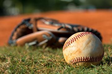 Baseball Mitt Glove with Ball