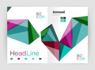 Geometric triangle business brochure template