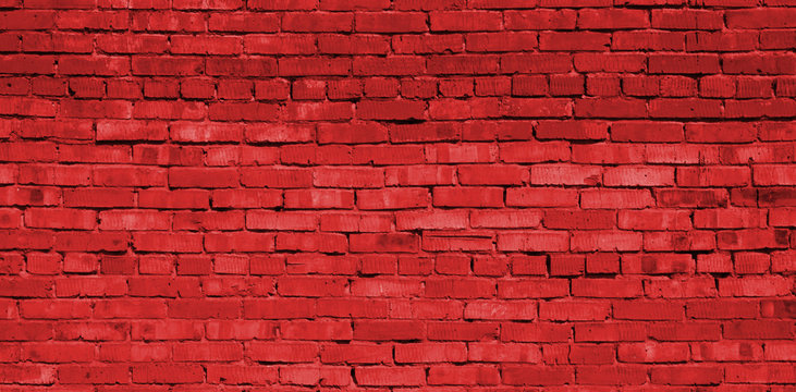 Red brick wall background, brick texture, brick pattern
