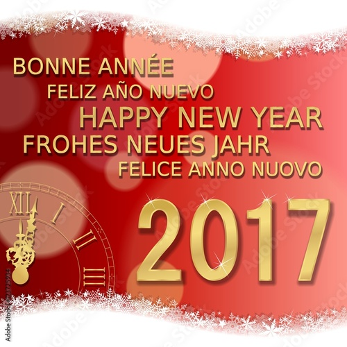 Frohes neues jahr. Happy New Year 2017 (br)\