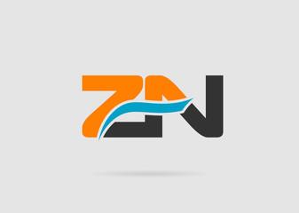 Alphabet Z and N letter logo. Vector illustration